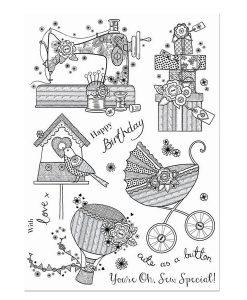 Timbro A5 Clear - Sew Special Stamps Timbri Special Gifts Hunkydory Italia Scrapbook Papercraft Cardmaking Biglietti Macchina da Cucire