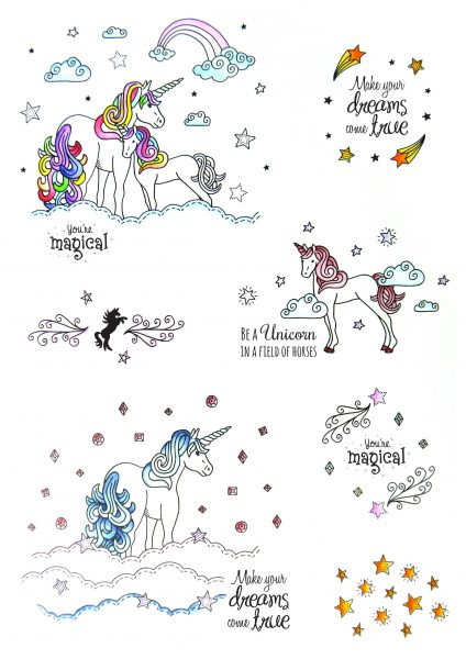 Stamps Timbri Unicorno Timbro Special Gifts Hunkydory Italia Scrapbook Papercraft Cardmaking Biglietti