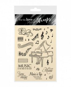 Timbro A6 Clear - Say It With Music Stamps Timbri Piano Timbro Special Gifts Hunkydory Italia Scrapbook Papercraft Cardmaking Biglietti