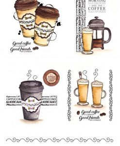 Stamps Timbri Caffè Timbro Special Gifts Hunkydory Italia Scrapbook Papercraft Cardmaking Biglietti
