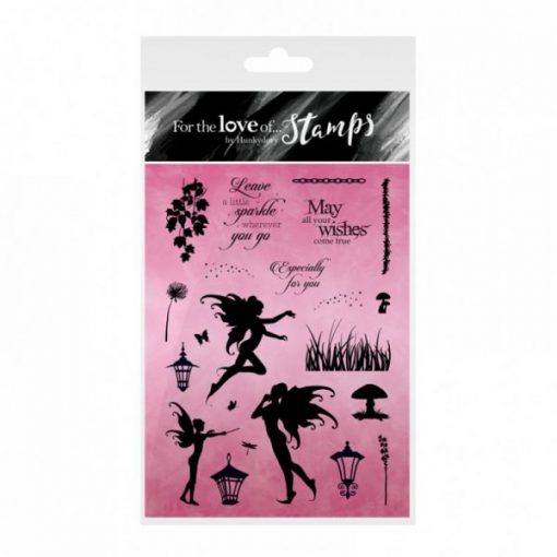 Timbro A6 Clear - Fairy Sparkles Stamps Timbri Fate Fatine Timbro Special Gifts Hunkydory Italia Scrapbook Papercraft Cardmaking Biglietti