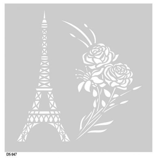 Stencil Torre Eiffel Bouqet di fiori Scrapbooking Stampino