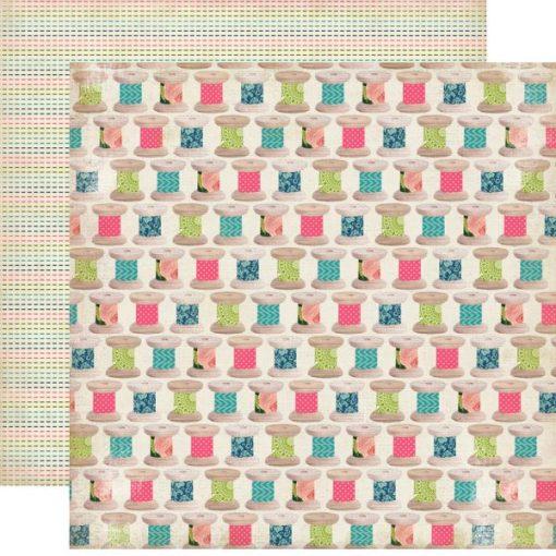 Carta Scrapbooking Colorata Rocchetto di Filo Decoupage Carta Bella