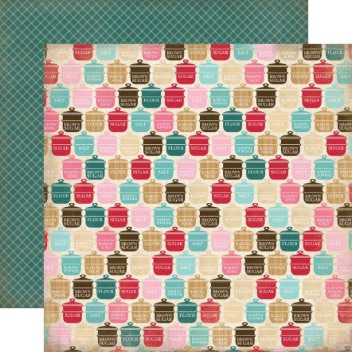 Carta Scrapbooking Colorata Vasetti Decoupage Carta Bella
