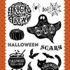 Timbro Scrapbooking Halloween Echo Park Trasparente