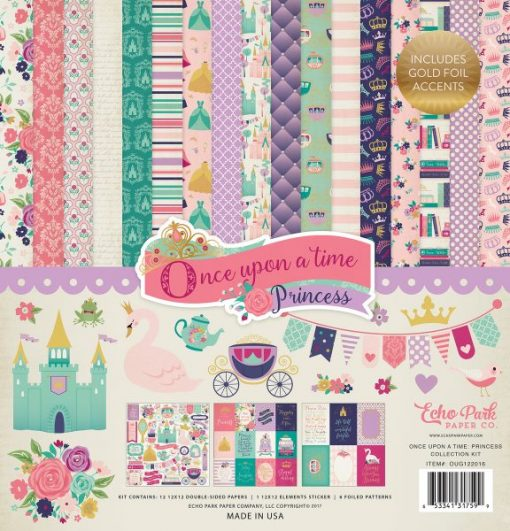 Blocco Cartoncino Principessa Principesse Once Upon A Time Scrapbook Mix Media
