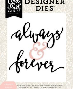 Always & Forever Wedding Bliss - Fustella Parole Fustella Always & Forever Scrapbook