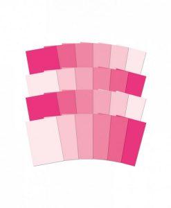Cartoncino Adorable Scorable – Pink Colour Family (Gradazioni di rosa) Scrapbooking Carta per scrap e decoupage