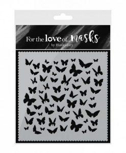 Stencil Mascherine Ballo delle Farfalle - Butterfly Dance Scrapbooking Cardmaking Hunkydory Italia