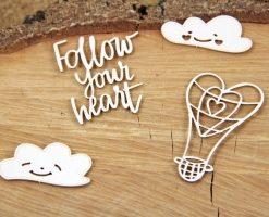 Set Clouded Hearts Balloon Fustellati Die-Cut (4 pezzi)
