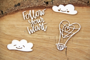 Set Clouded Hearts Balloon Fustellati Die-Cut (4 pezzi)