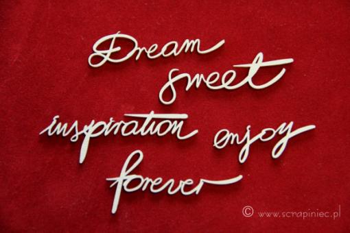 Dream Set Scritte Fustellate (5 pezzi)