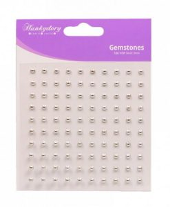 Gemme Adesive (100 pezzi) - Argento Scrapbooking Perline