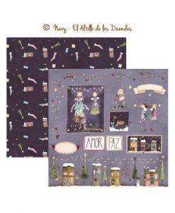 Collezione Hechizo de Navidad (Natale) - Cartoncino Scrapbooking Italia El Altillo de los Duendes