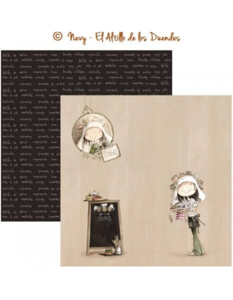 """Ofelia Cocina 05 (Cucina) - Cartoncino 12x12"""" Scrapbooking Italia Cardmaking El Altillo de los Duendes"""