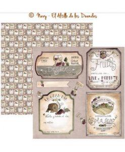 """Ofelia Cocina 10 (Cucina) - Cartoncino 12x12"""" Cardmaking Scrapbooking El Altillo de los Duendes Italia"""