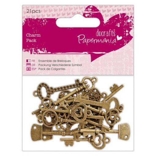 Charms - Chiavi in metallo (21 pezzi)