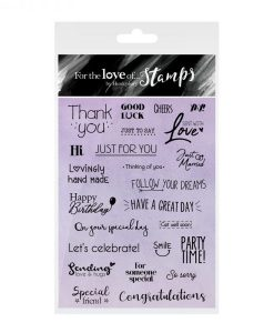 Timbro A6 Clear - Tags & Banners Sentiments