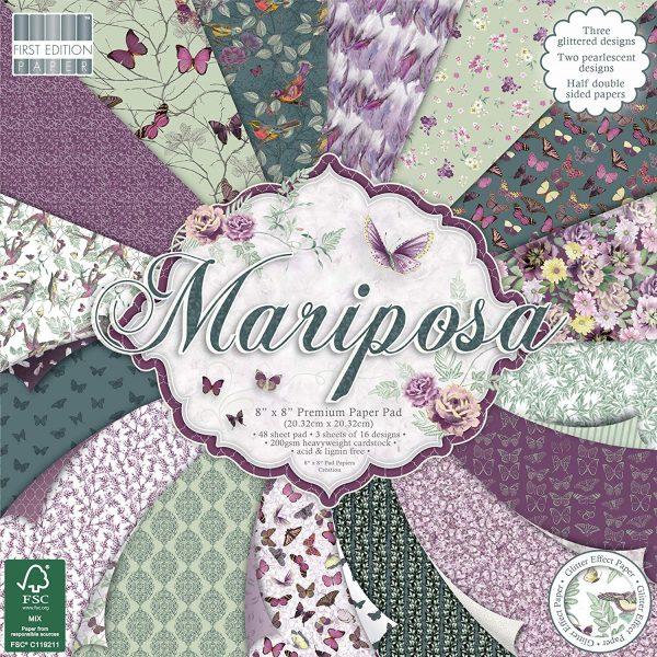 Mariposa (20,32 x 20,32 cm) - Bloccheto Cartoncino da 48 fogli
