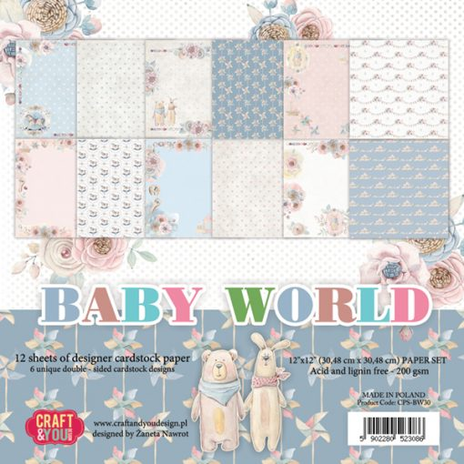 Baby World - Blocchetto Cartoncino 12x12