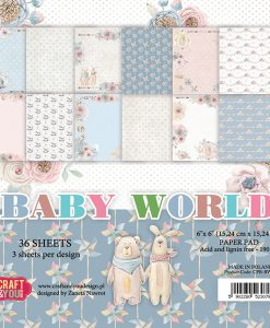 Baby World - Blocchetto Cartoncino 6x6