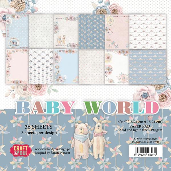 Baby World - Blocchetto Cartoncino 6x6