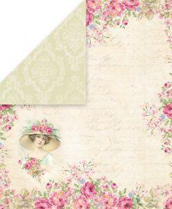 Bellissima Rosa - Blocchetto Cartoncino 12x12