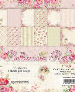 Bellissima Rosa - Blocchetto Cartoncino 6x6