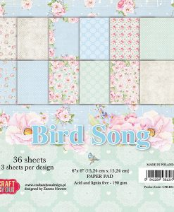 Bird Song - Blocchetto Cartoncino 6x6