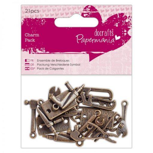 Charms - Attrezzi in metallo (21 pezzi)