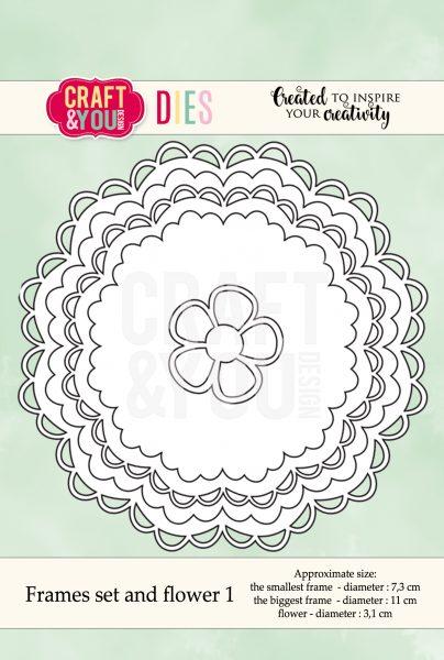 Fustella - Set di cornici di fiori