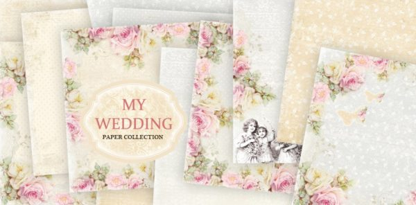 My Wedding - Blocchetto Cartoncino 12x12