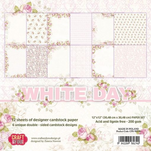 White Day - Blocchetto Cartoncino 12x12