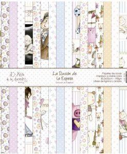 """Collezione La Ilusion de la Espera - Cartoncino 12x12"""" (9 pezzi)"""