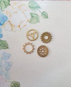 Gears (ingranaggi) - abbellimento in metallo (4 pezzi)