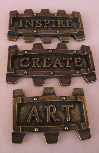 Set di placchette Inspire - abbellimento in metallo (3 pezzi)