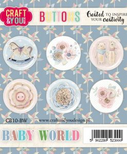 Bottoni Decorativi Baby World (6 pezzi)