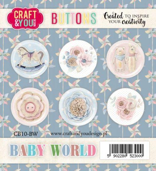 Bottoni Decorativi Baby World (6 pezzi)
