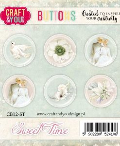 Bottoni Decorativi Sweet Time (6 pezzi)