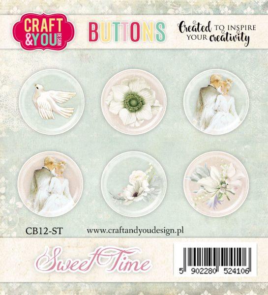 Bottoni Decorativi Sweet Time (6 pezzi)