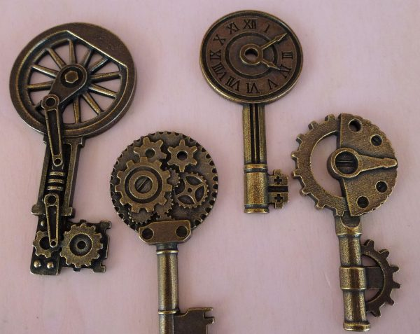 Chiavi - abbellimento in metallo (4 pezzi)