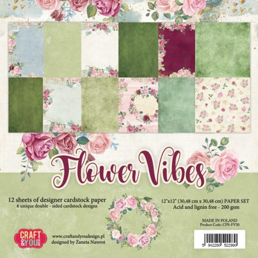 Flower Vibes - Blocchetto Cartoncino 12x12