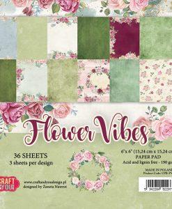 Flower Vibes - Blocchetto Cartoncino 6x6