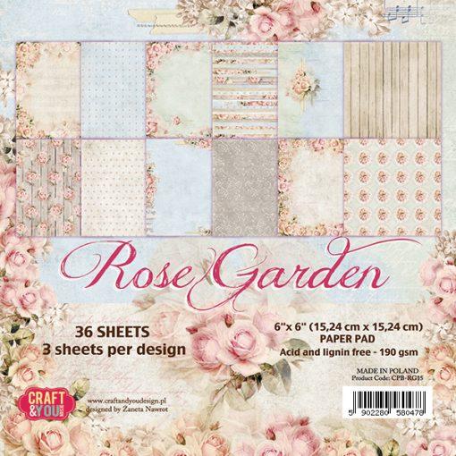 Rose Garden - Blocchetto Cartoncino 6x6