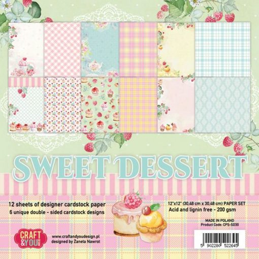 Sweet Dessert - Blocchetto Cartoncino 12x12