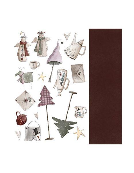 """Collezione Angel de mi Navidad - Cartoncino 12x12"""" (6 pezzi) è la collezione intera delle bellissime carte a tema natalizio Angel de mi Navidad. Si tratta di 6 cartoncini per scrapbooking, stampati solo fronte, dedicati al natale. Con disegni di decorazioni natalizie, angioleetti, fate e gnomi, alberi di natale, stelle e pupazzi di neve - queste carte sono perfette per creare tanti progetti di scrapbooking per le feste. Questi cartoncini fanno parte della collezione Angel de mi Navidad. Questa collezione ha una copertina anteriore che puo' essere ritagliata ed utilizzata. El Atillo de los Duendes suggerisce di utilizzare queste carte stupende per la realizzazione delle decorazioni per la tavolata di Natale, includendo il menu, ed un minialbum per raccogliere tutte le foto della serata! El Altillo de los Duendesè una marca di scrapbooking spagnola che propone dei bellissimi disegni, pieni di fantasia ed immaginazione. Le carte di questa marca hanno una rifinitura liscia molto morbida e grammatura di 190 gsm cheè perfetta per creare album ed inviti senza l'utilizzo di cartoncini da supporto. Tutte le carte per scrapbooking di El Altillo de los Duendes sono di altissima qualità. 6 cartoncini per scrapbooking stampati solo fronte Dimensione 12"""" x 12""""(30,5 cm x 30,5 cm) Grammatura 190gsm Carte prive di acidi e lignina Queste carte sono perfette per la creazione di album di scrapbooking e diari per le feste, permettendovi di raccontare delle storie attraverso le sue illustrazioni. Queste carte sono libere di acidi e lignina e non rovineranno le vostre fotografie. Questi cartoncini per scrap sono perfetti per essere anche ritagliati e fustellati. Abbiamo anche altre collezioni di carta e cartoncino per scrapbooking di questa bellissima marca spagnola Per ispirazione ed idee, segui il nostro profilo di Instragram. Collezione Angel de mi Navidad (Natale) - Cartoncino 12x12"""" (6 pezzi)"""