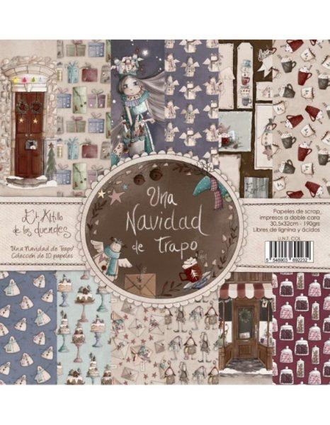Collezione Natale Una Navidad de Trapo Cartoncino 12x12