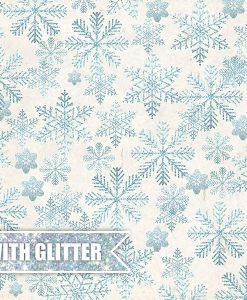 Carta Scrapbooking Natale con Glitter