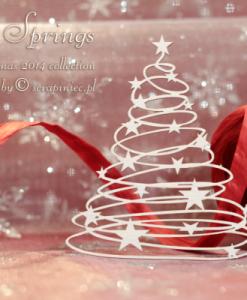 Alberi di Natale con stelle - elementi fustellati