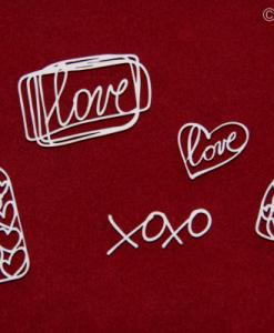Bottigliette d'amore elementi fustellati